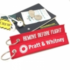 Pratt & Whitney Remove Before Flight tag