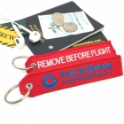 Pratt & Whitney Blue logo Remove Before Flight tag