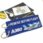 Airbus A380 wave Remove Before Flight tag