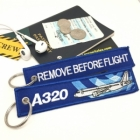 Airbus A320 wave Remove Before Flight tag