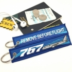Boeing 757 wave Remove Before Flight tag