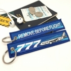 Boeing 777 wave Remove Before Flight tag