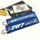 Boeing 787 wave Remove Before Flight tag
