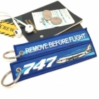 Boeing 747 wave Remove Before Flight tag