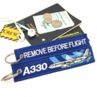 Airbus 330 wave Remove Before Flight tag