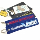 Airbus A380 Red Remove Before Flight tag