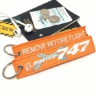 Boeing 747-8 Intercontinental Remove Before Flight tag keychain