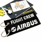 Flight Crew AIRBUS luggage tag keychain