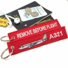 Airbus 321 Remove Before Flight tag