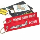 Airbus 319 Remove Before Flight tag