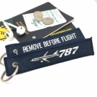 Boeing 787 Dramliner Navy Blue Remove Before Flight tag