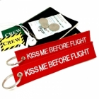 Kiss me before flight (Flight Attendant) tag