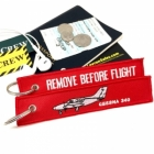 Cessna 340 Remove Before Flight tag keychain