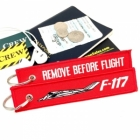 Lockheed F-117 Nighthawk Remove Before Flight tag keychain