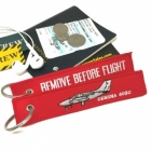 Cessna 402 Remove Before Flight tag keychain