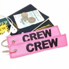 CREW pink (Flight Crew, Cockpit Crew, Maintainance Crew) tag keychain