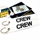 CREW White (Flight Crew, Cockpit Crew, Maintainance Crew) tag keychain