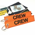 CREW Amber (Flight Crew, Cockpit Crew, Maintainance Crew) tag keychain