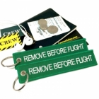 Remove Before Flight Green color tag keychain