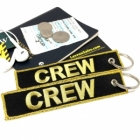 CREW Gold Reflective Shiny (Flight Crew, Cockpit Crew, Maintainance Crew) tag keychain