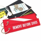 Diver oxygen tank and bag tag keychain