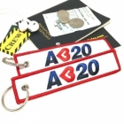 A320 I love Airbus luggage tag keychain
