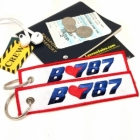 B787 I love Boeing luggage tag keychain