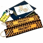 Priority Tag Keychain Luggage tag bag tag