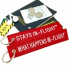 What happens in flight stays in flight Humour funny luggage bag tag keychain