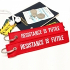 Resistance is futile, TSA, Star Trek Borg Humour Funny luggage bag tag keychain
