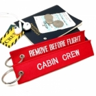 Cabin Crew Remove Before Flight tag keychain