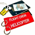 Helicopter Flight Crew Remove Before Flight style luggage bag tag keychain