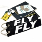 FLY Aviator Novelty Pilot Cabin Crew Flight attendant Student Pilot Keychain luggage tag