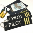 Pilot First Officier III Stripe Crew Cockpit AOPA luggage bag tag keychain