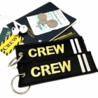 CREW II Stripe Crew Cockpit AOPA luggage bag tag keychain