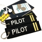 Pilot II Stripe Crew Cockpit AOPA luggage bag tag keychain