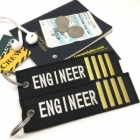 Engineer IIII Stripe Crew Cockpit AOPA luggage bag tag keychain