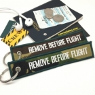 Camouflage Dark Green Army Remove Before Flight luggage bag tag keychain
