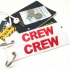 CREW WHITE RED (Flight Crew, Cockpit Crew, Maintainance Crew) luggage bag tag keychain