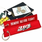 Airbus 310 Remove Before Flight Cockpit Cabin Crew Flight attendant luggage bag tag keychain