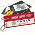 Varig Brazil airline Fight attendant Cabin cockpit crew luggage bag tag keychain