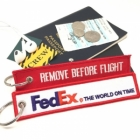 FedEx airline Fight attendant Cabin cockpit crew luggage bag tag keychain