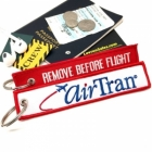 AirTran airline Fight attendant Cabin cockpit crew luggage bag tag keychain
