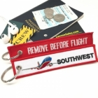 Southwest airline Fight attendant Cabin cockpit crew luggage bag tag keychain