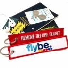 FlyBe airline Fight attendant Cabin cockpit crew luggage bag tag keychain