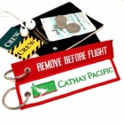 Cathay Pacific  國泰航空 REMOVE BEFORE FLIGHT attendant pilot luggage bag tag keychain
