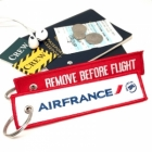 Air France REMOVE BEFORE FLIGHT attendant pilot luggage bag tag keychain