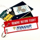 Ryanair REMOVE BEFORE FLIGHT attendant pilot luggage bag tag keychain