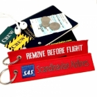 SAS Scandinavian Airlines REMOVE BEFORE FLIGHT attendant pilot luggage bag tag keychain
