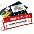 Singapore Airlines REMOVE BEFORE FLIGHT attendant pilot luggage bag tag keychain